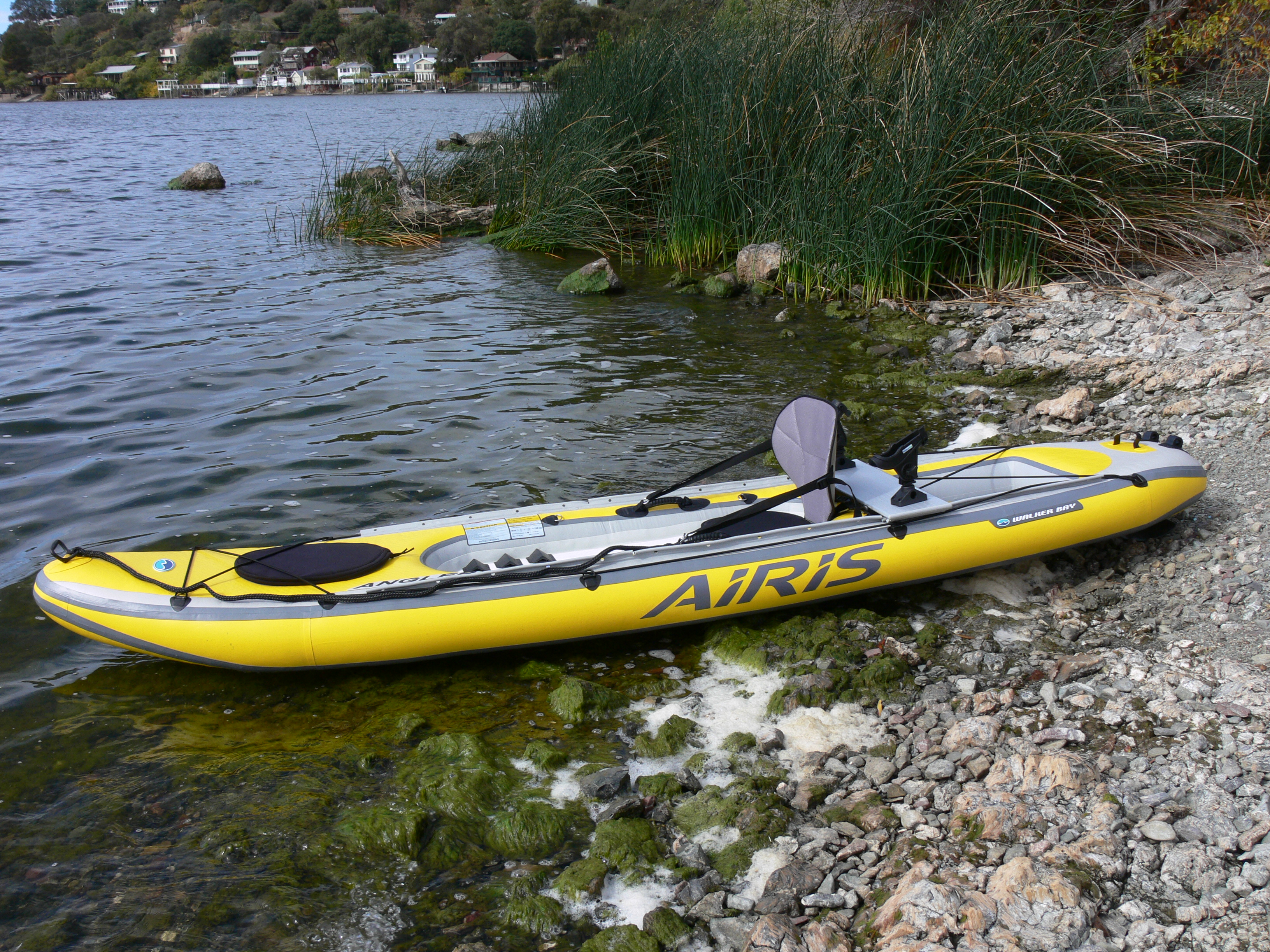 The airis inflatable angler kayak from walker bay not for Best canoe for fishing
