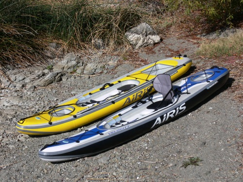 Airis Angler and Velocity Inflatable Kayaks