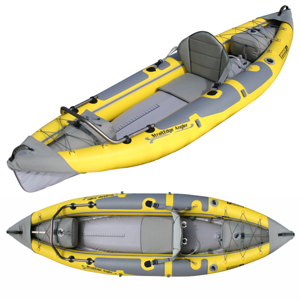 Sneak preview straitedge angler inflatable fishing kayak for Best inflatable fishing kayak