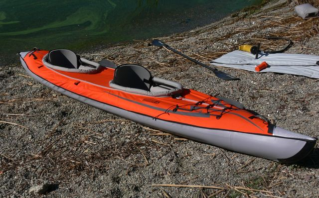 Using The Advanced Elements Convertible Kayak Single And
