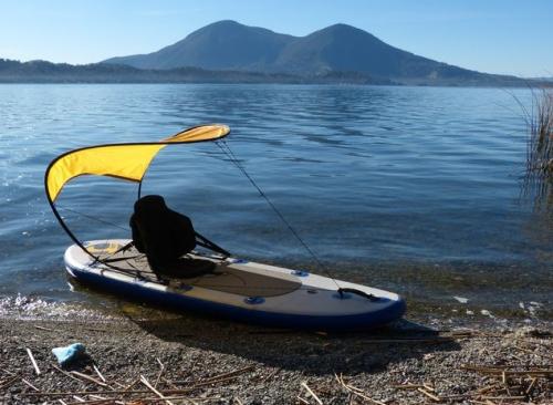 Sneak preview the windpaddle bimini kayak canoe sun for Best fishing kayak under 500