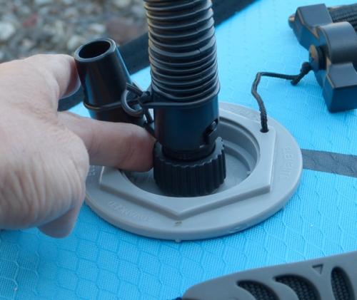 Screw the adaptor onto the military valve.