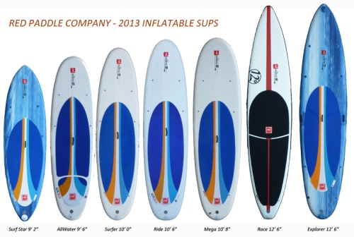 Red Paddle Company 2013 Inflatable SUP Line-up