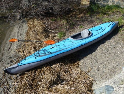Convertible kayak with single deck installed.