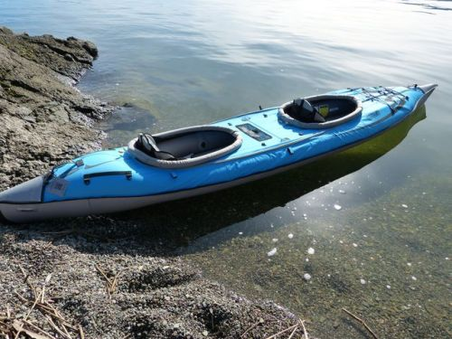 Convertible kayak with double deck installed.
