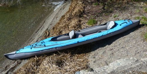 Convertible DS set up for tandem paddling