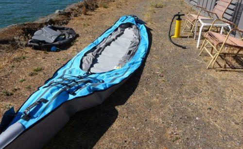 Unfold the kayak body