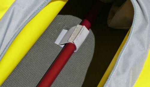 Velcro alignment tabs