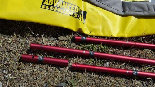 Three numbered poles and locking sleeve