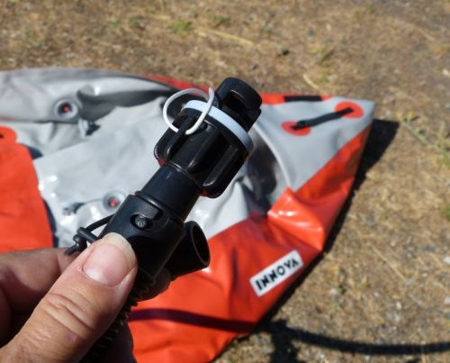 Attach the Innova adaptor to the Boston valve adaptor