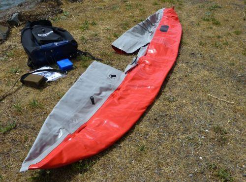 Unfold the kayak.