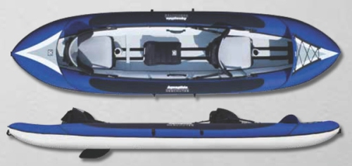 New Deschutes Tandem HB Inflatable Kayak from Aquaglide