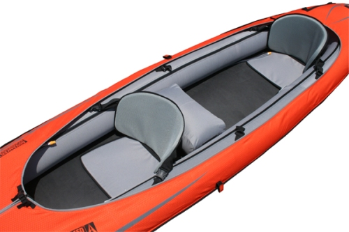 DuraFloor installed in an Advanced Elements Convertible kayak