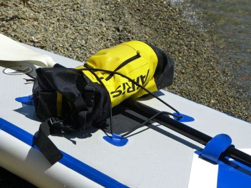 Carry gear with the front bungee attachment system