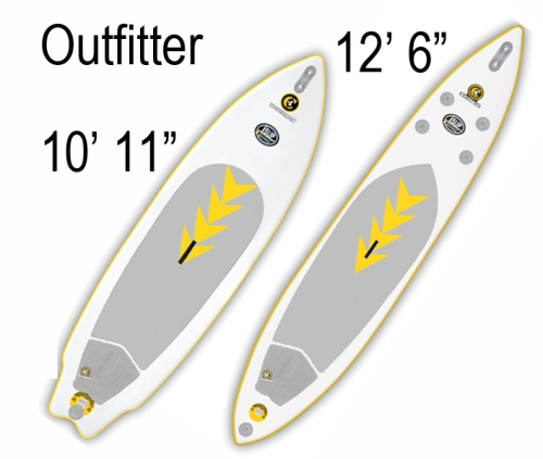"C4 Waterman 10'11"" and 12' 6"" OutFitter Inflatable SUP"