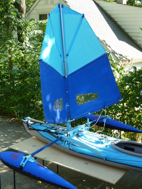 Jan-Henrik's first sail rig iteration