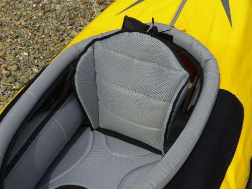 High-backed lumbar seat.