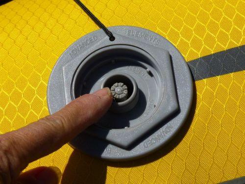 Spring plunger on military valve.