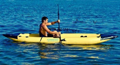 Conquest Vista paddled solo.