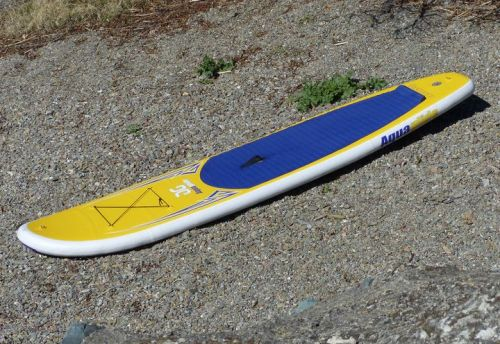 "The Cascade 10'0"" inflatable SUP from Aquaglide."
