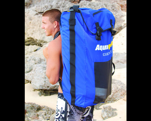 Cascade is easily carried with the included backpack.