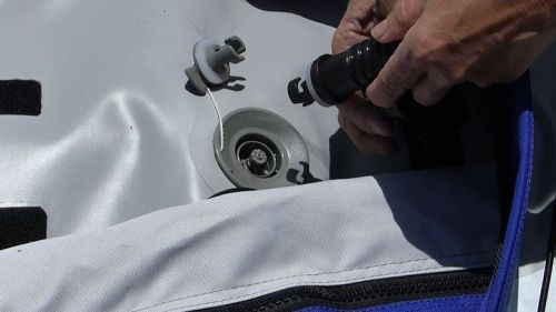 Using the military valve adaptor