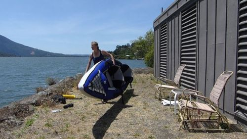 The Columbia Tandem inflatable kayak.