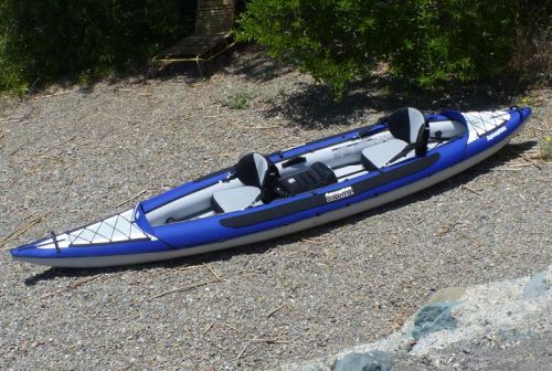 The Aquaglide Columbia Tandem inflatable kayak