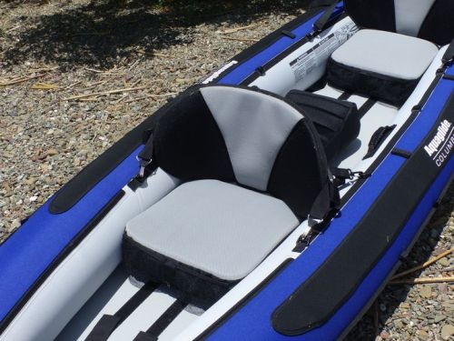 Pro-formance seat with inflatable seat base and mesh pockets.