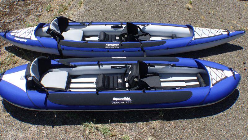 Choosing an aquaglide inflatable kayak deschutes tandem for Canoe vs kayak fishing