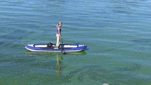 Deschutes Tandem inflatable kayak is stable.
