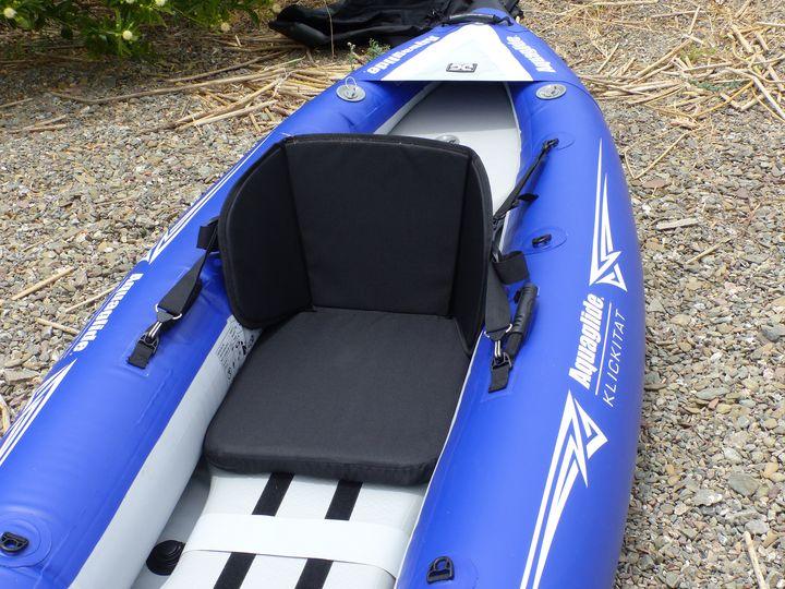 Padded white water seat  | AirKayaks com