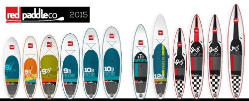 2015 Red Paddle Co Inflatable SUP Lineup