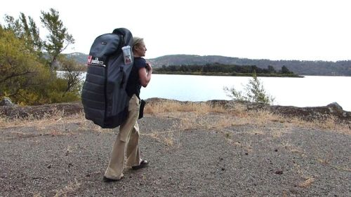 Red Air Ride 10-6 in back pack.