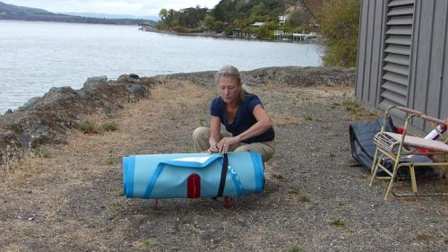Packing up the Ride 10-6 inflatable SUP