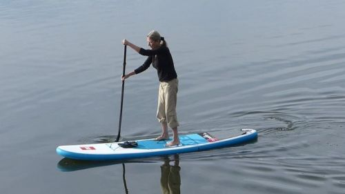 Ride 9-8 Inflatable Paddle Board from Red Paddle Co on the water