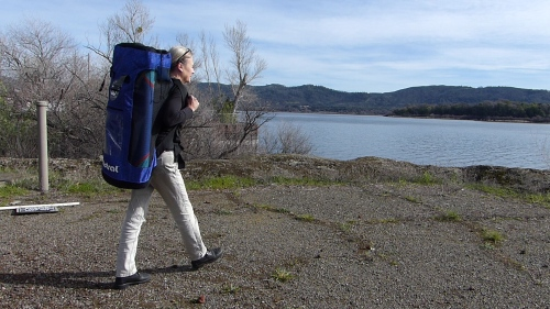 Backpack is great for remote hiking.