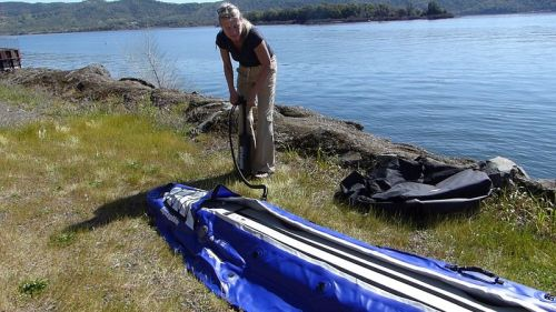 Pumping up the AquaGlide Chelan Tandem