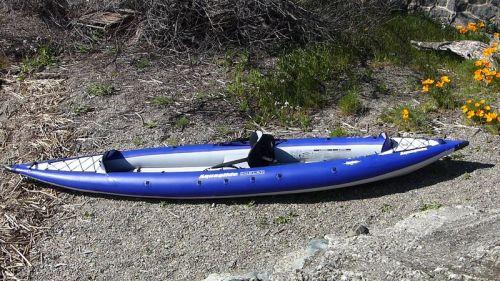AquaGlide Chelan HB Tandem XL Inflatable Kayak set up for one.