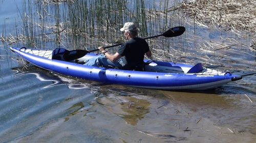 AquaGlide Chelan HB Tandem XL Inflatable Kayak paddled solo