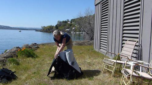 Unpacking the kayak