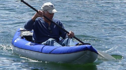 AquaGlide Chinook XP One inflatable kayak on the water