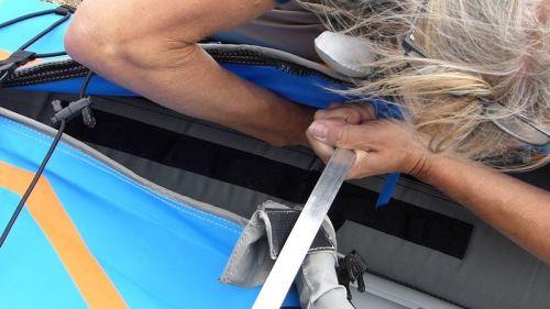 Installing the deck riser