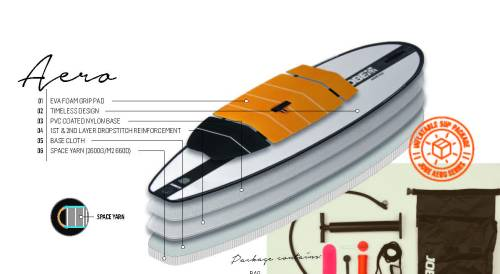 Jobe inflatable SUP construction