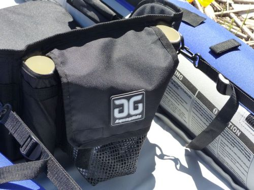 Seat with mesh pocket and fishing rod holders