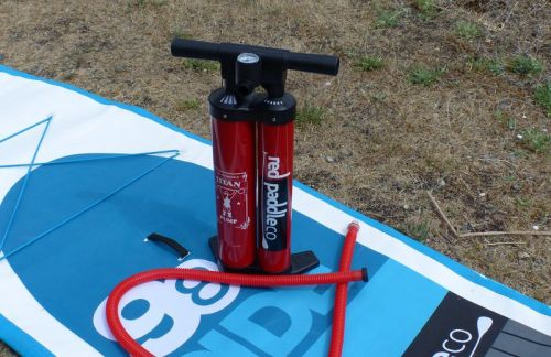 The Titan Inflatable SUP Pump from Red Paddle Co