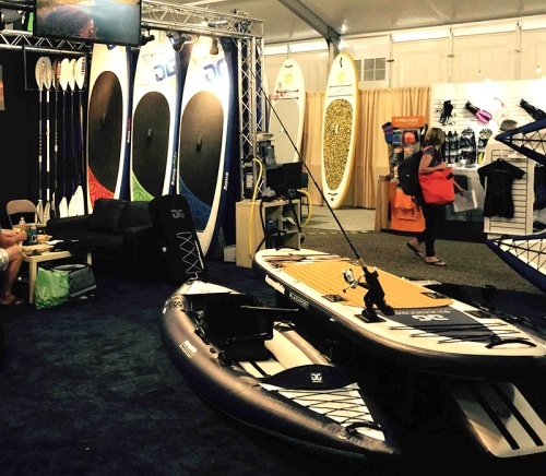 New 2016 AquaGlide SUPs at the Outdoor Retailer Show in Utah