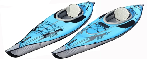 New AdvancedFrame DS-XL and DS-XLC inflatable kayaks.