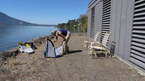 Unfolding the kayak