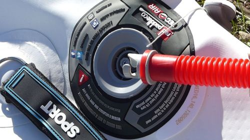 Attach hose to military valve.